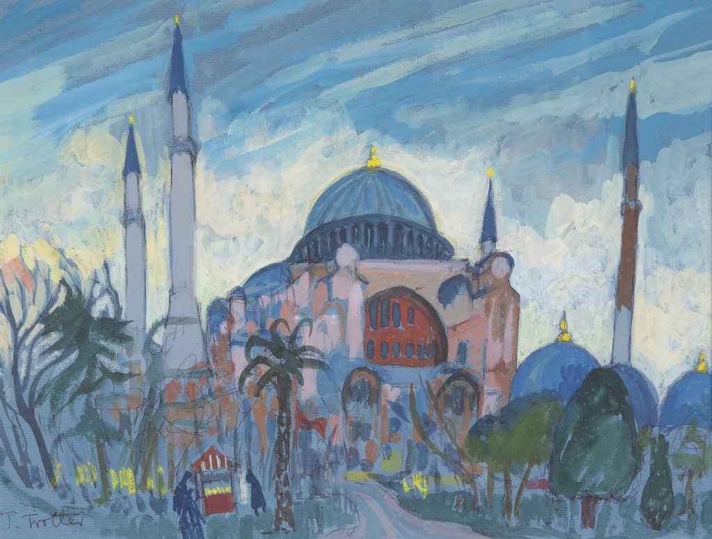 Stock Photo: 1101-598 Mosque by Josephine Trotter, born 1940
