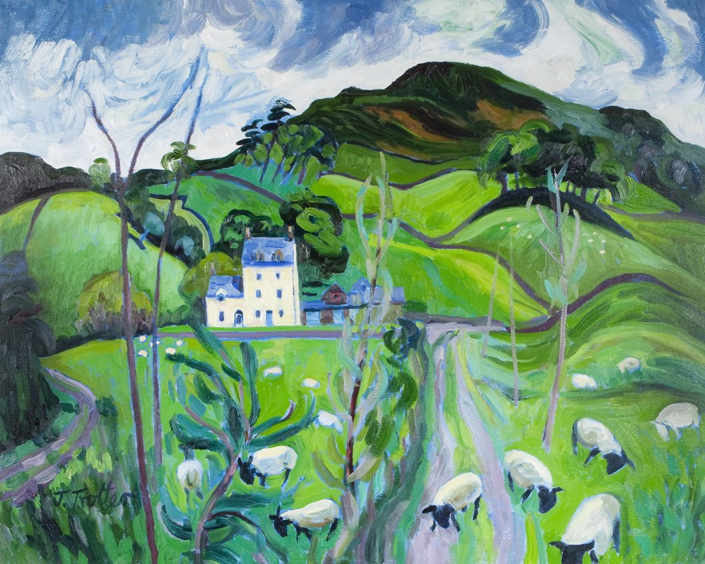 Stock Photo: 1101-608 Rural landscape, by Josephine Trotter, born 1940