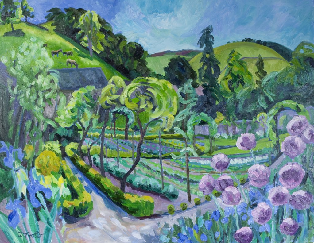 Rural landscape, by Josephine Trotter, born 1940 : Stock Photo