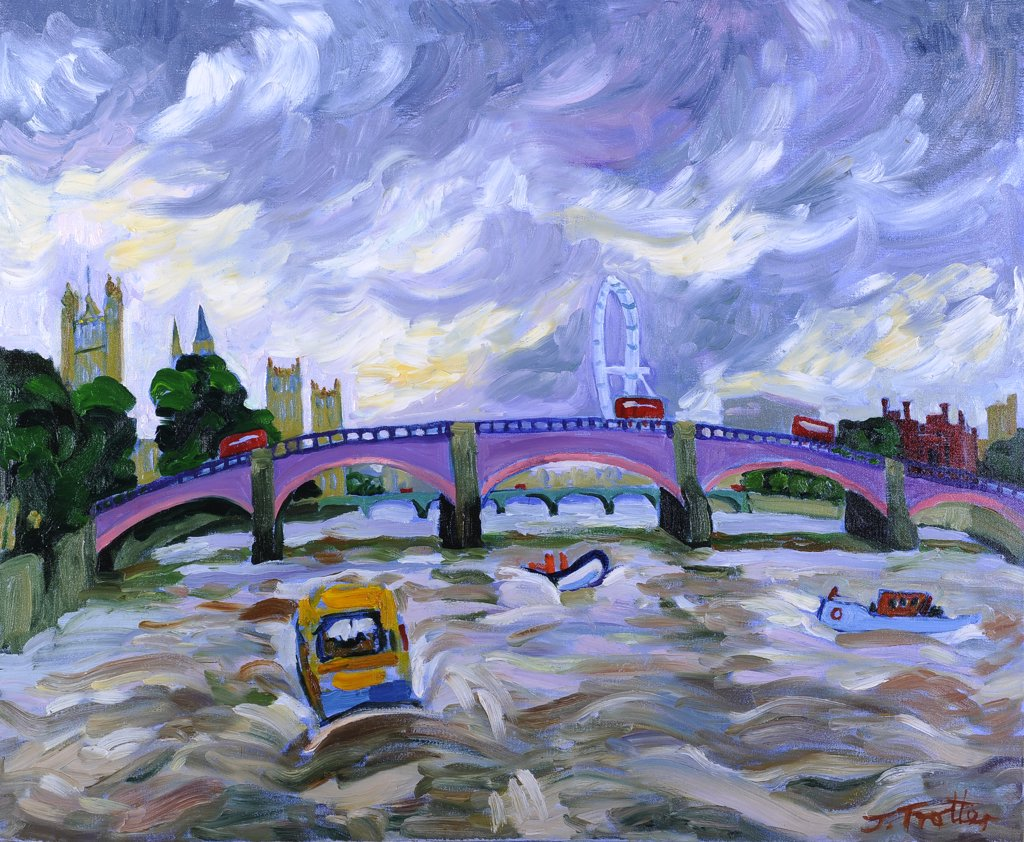 Stock Photo: 1101-614 Lambeth Bridge by Josephine Trotter, oil on canvas