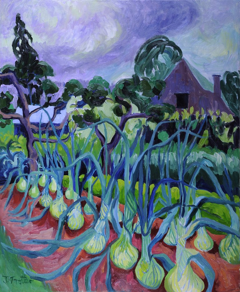 Stock Photo: 1101-620 Onions by Josephine Trotter, oil on canvas