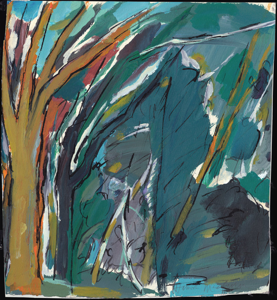 Trees and Foliage Hamish MacEwan (b.20th C. American) Private Collection : Stock Photo