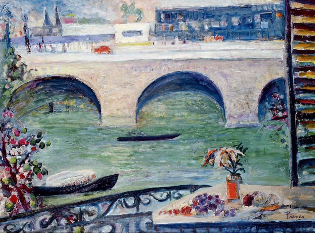 Le Pont Neuf Leopoldo Presas (b.1915 Argentinean) Zurbaran Galeria, Buenos Aires : Stock Photo