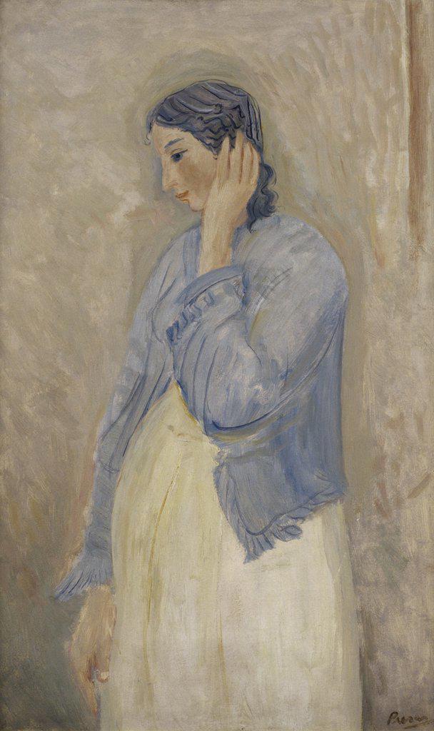 Stock Photo: 1109-1003 Motherhood (Maternidad) 1952 Leopold Presas (b.1915/Argentinean) Oil on Cardboard Zurbaran Galeria, Buenos Aires