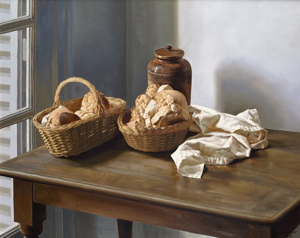 Stock Photo: 1109-1013 Baskets of Bread
