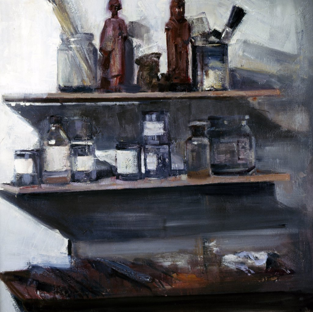 Sala de Espera by Jose Alberto Marchi,  acrylic on canvas,  1995,  born in 1956,  Argentina,  Buenos Aires,  Zurbaran Galeria : Stock Photo