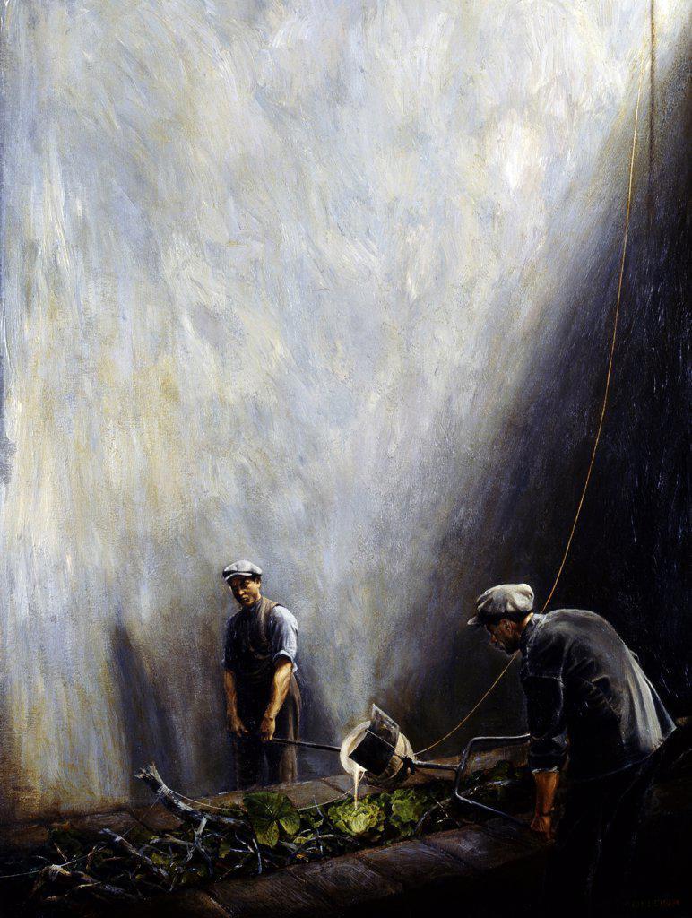 Stock Photo: 1109-1015 Sala de Riego by Jose Alberto Marchi,  acrylic on canvas,  1993,  born in 1956,  Argentina,  Buenos Aires,  Zurbaran Galeria