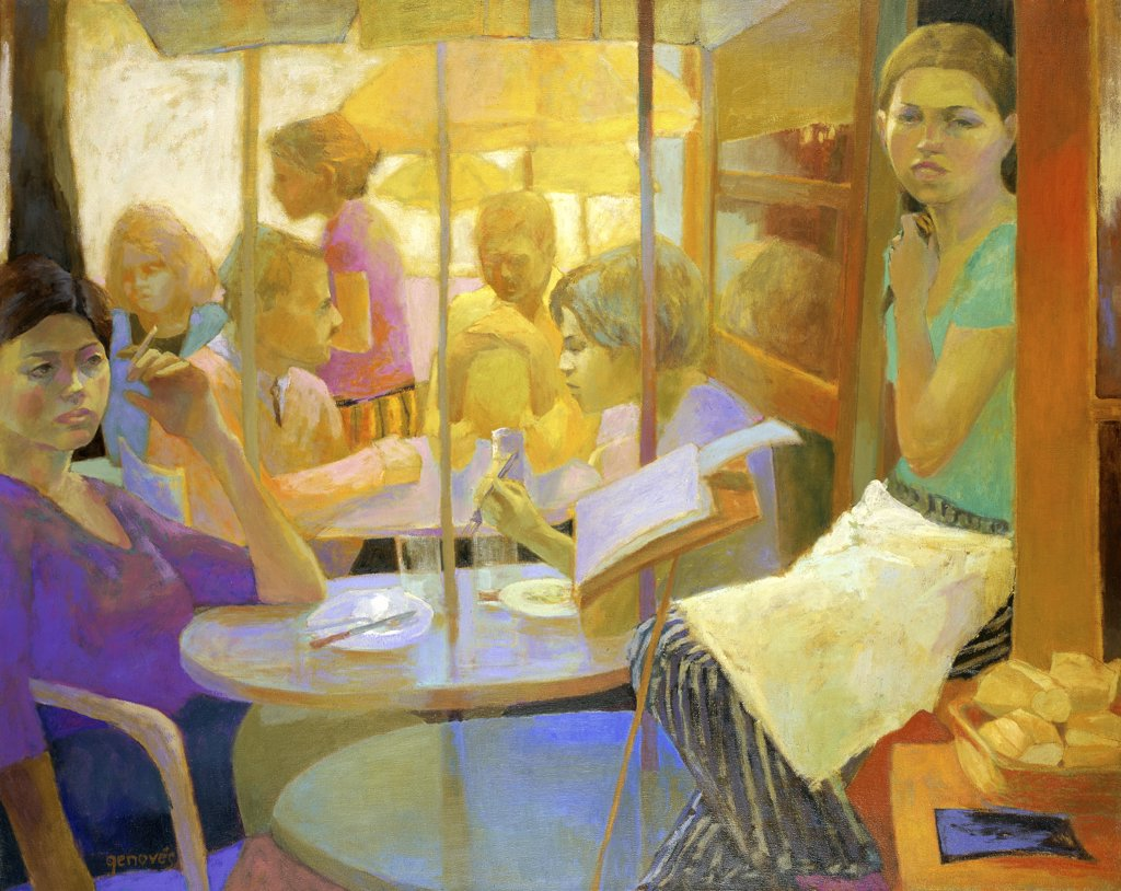 La Hora del Almuerzo 2000 Graciela Genoves (b.1962/Argentinean) Oil on canvas Zurbaran Galeria, Buenos Aires, Argentina : Stock Photo