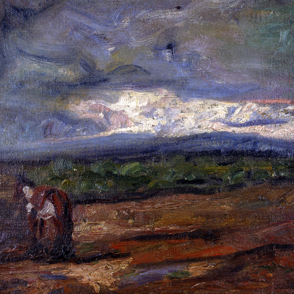 Stock Photo: 1109-1049 Tormenta by Fernando Fader,  oil on canvas,  1908,  Argentina,  Buenos Aires,  Zurbaran Galeria