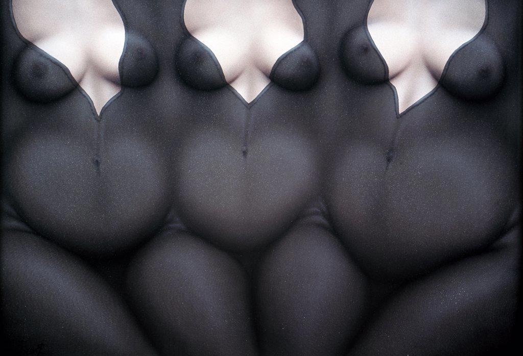 Trillizas by Ernesto Bertani,  acrylic on canvas,  1997,  (Born 1949),  Argentina,  Buenos Aires,  Zurbaran Galeria : Stock Photo