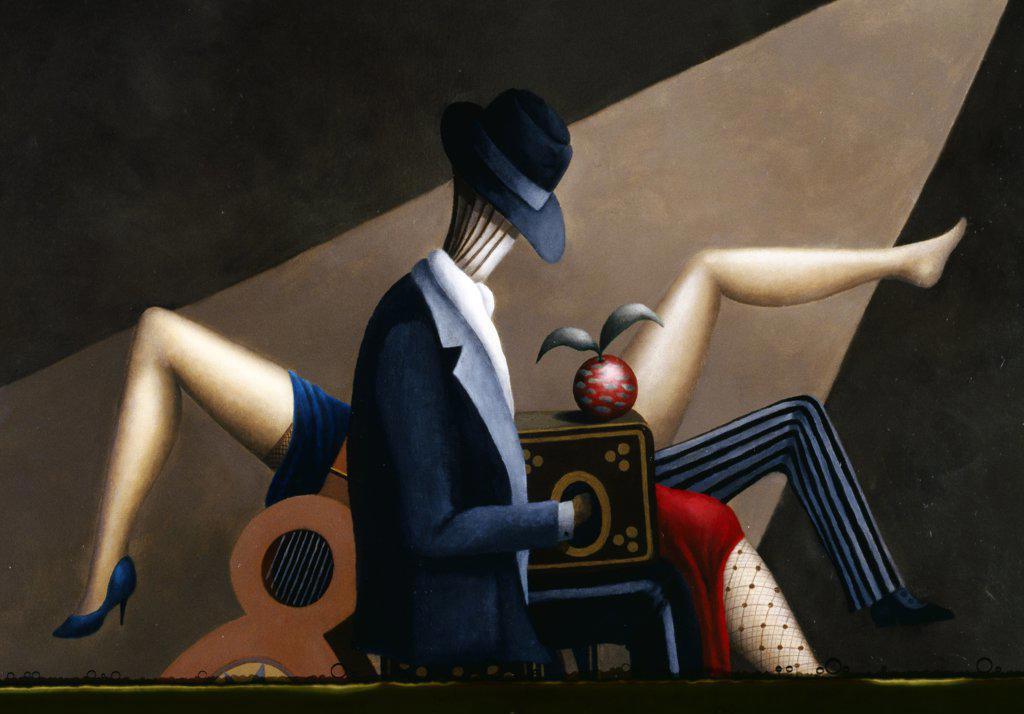 Pa Que Bailen los Muchachos by Juan Carlos Liberti,  2000,  (Born 1930),  Argentina,  Buenos Aires,  Zurbaran Galeria : Stock Photo