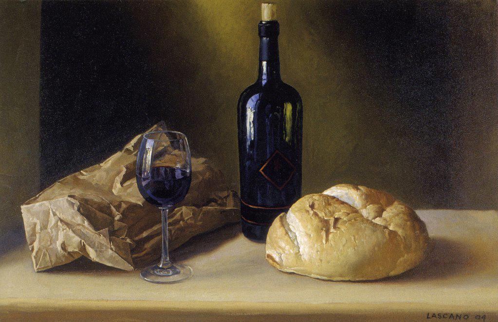Stock Photo: 1109-1086 Nobleza Mendocina 2004 Juan Lascano (b.1947 Argentinean) Oil on canvas Zurbaran Galeria, Buenos Aires