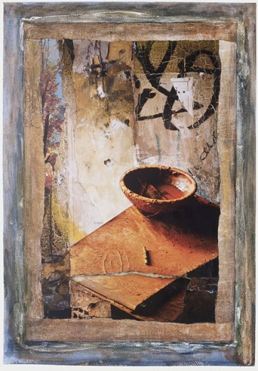 Stock Photo: 1111-23158 Bowl II 2002 Freshman Brown (20th C. American) Mixed Media and Collage