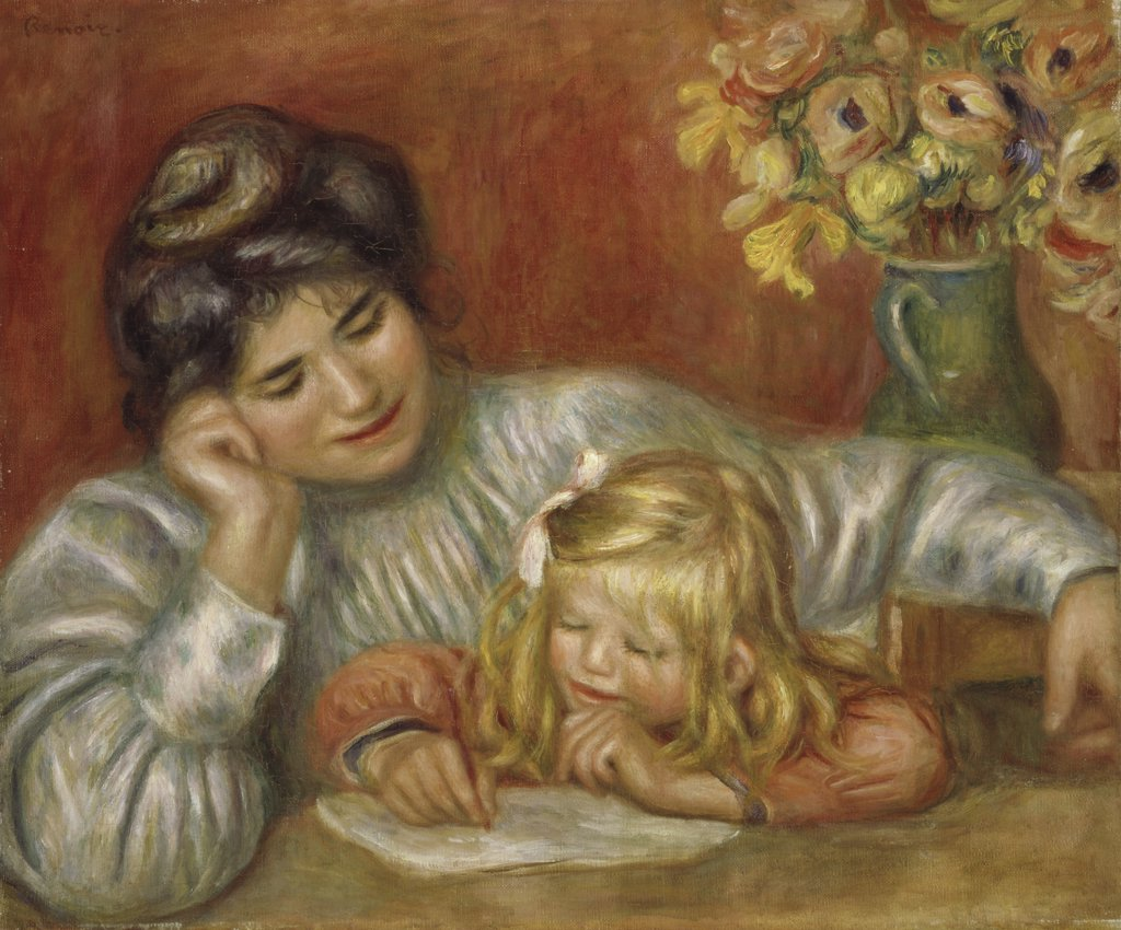 Stock Photo: 1114-1010 The Writing Lesson 