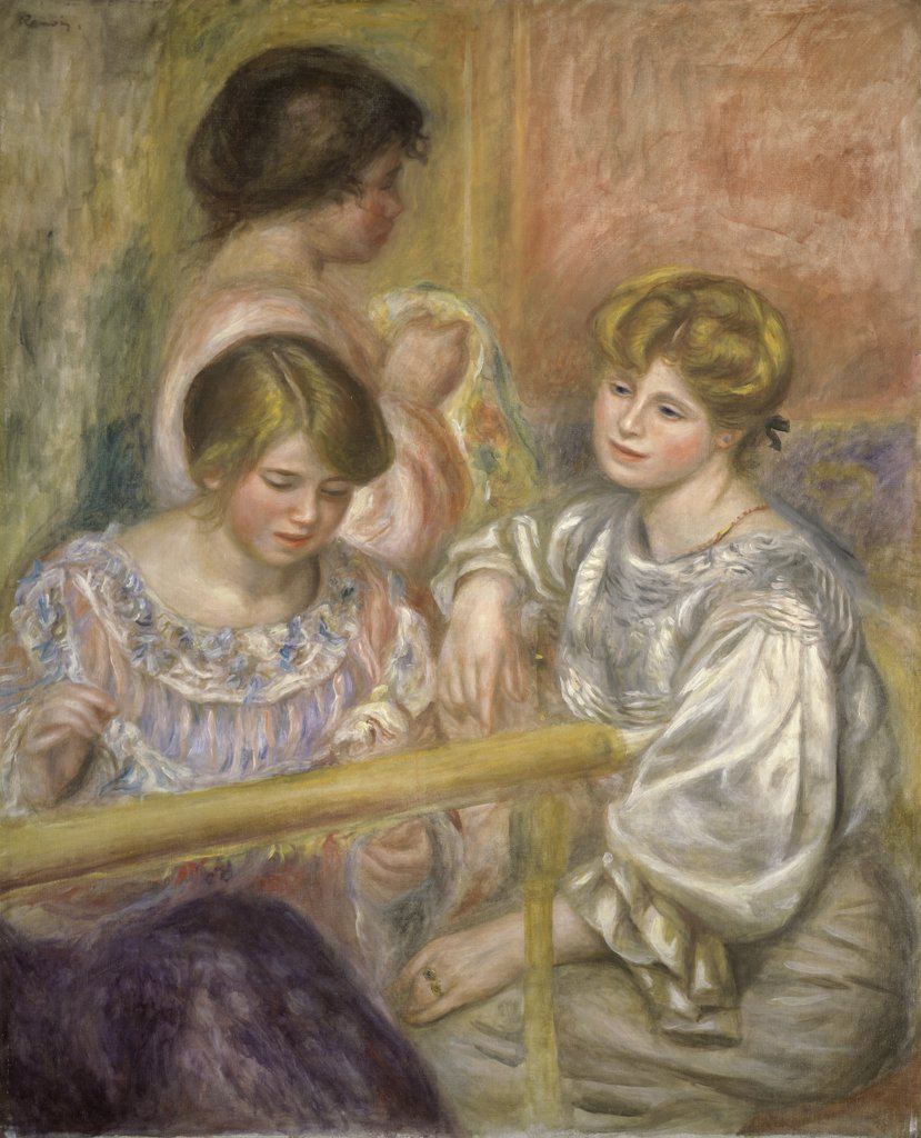 Stock Photo: 1114-1048 Embroiderers 