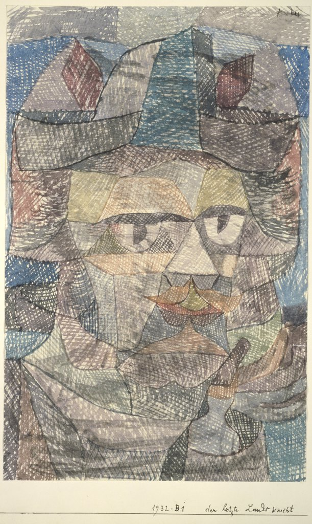 Stock Photo: 1114-1087 Last of the Mercenaries  1931 Paul Klee (1879-1940 /Swiss) Watercolor on paper Barnes Foundation, Merion, Pennsylvania