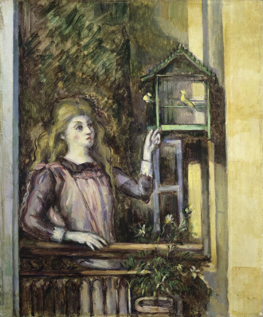 Girl with a Birdcage