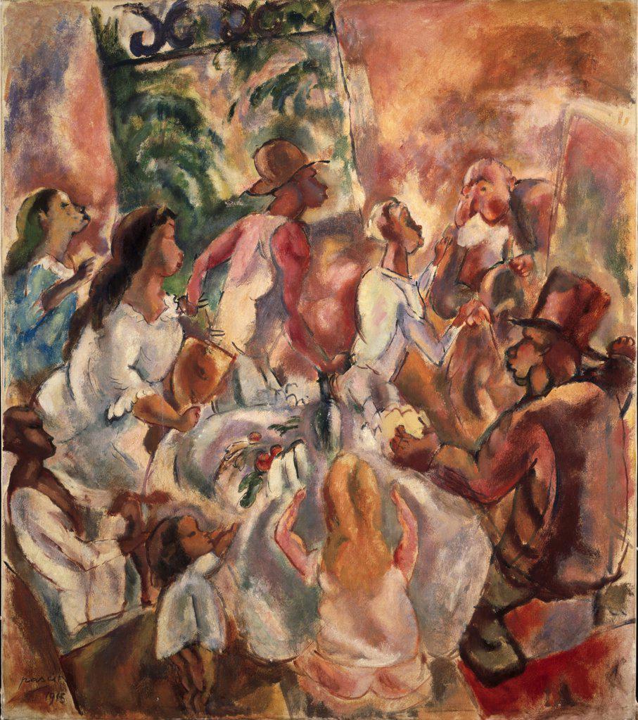 Cuban Hospitality/Return of the Prodigal Son 1915 Jules Pascin (1885-1930/French) Oil on canvas Barnes Foundation, Merion, Pennsylvania   : Stock Photo