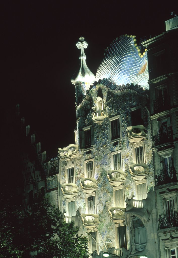 Casa Batllo Barcelona Spain : Stock Photo