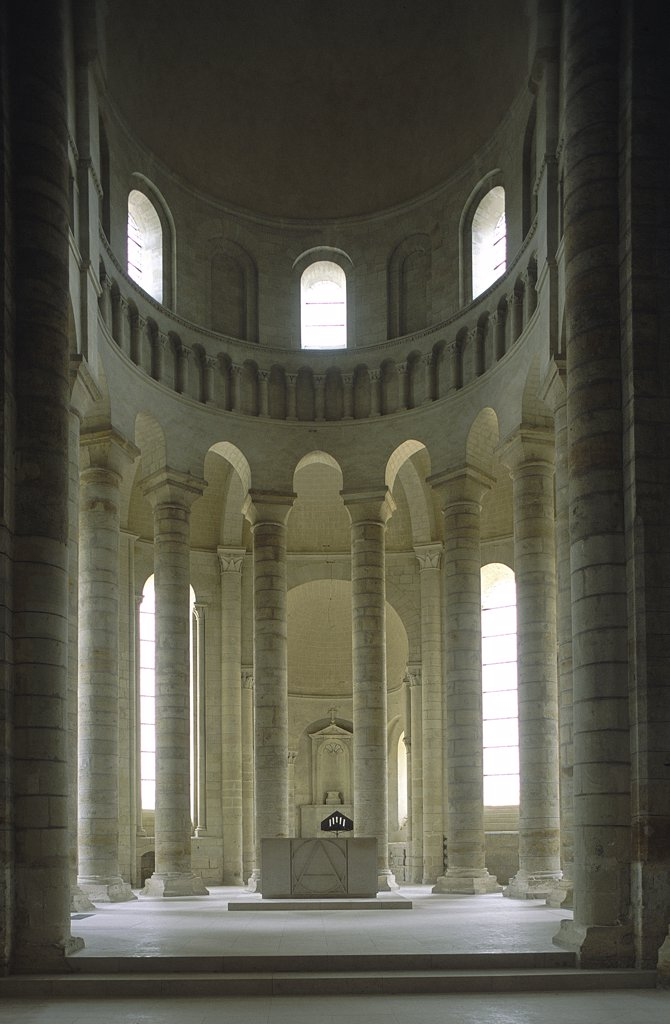Stock Photo: 1119-1675 Interior of an abbey, Fontevraud Abbey, Maine-et-Loire, Anjou, France