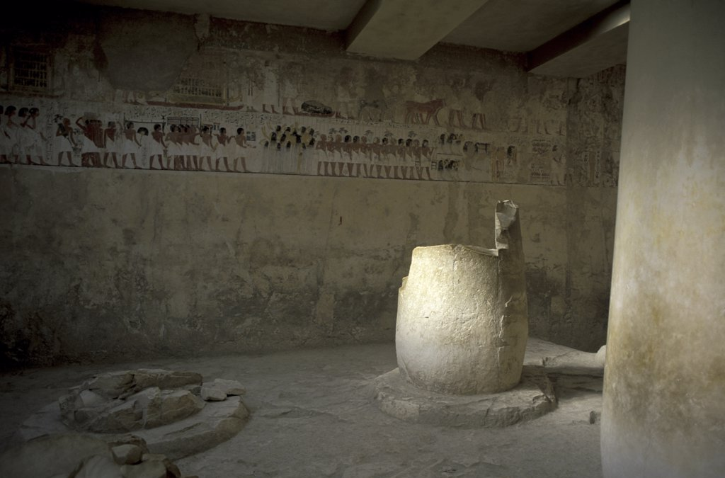 Stock Photo: 1119-1688 Interior of a tomb, Tomb Of Ramose, Luxor, Egypt