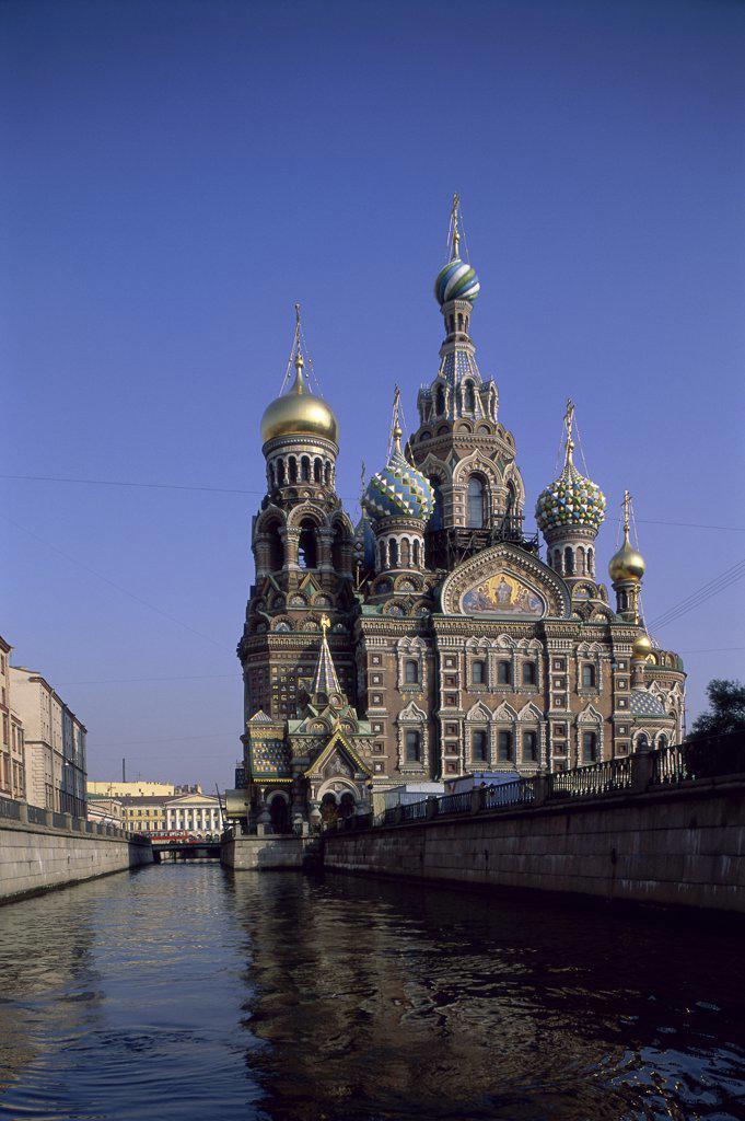 Stock Photo: 1119-185 Church of the Resurrection of Jesus Christ St. Petersburg Russia