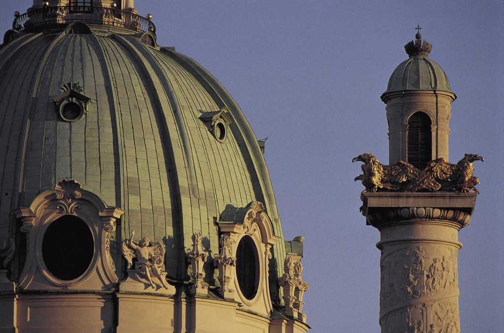 Stock Photo: 1119-718 Karlskirche Vienna Austria