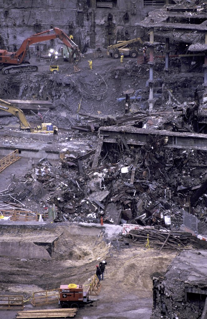 Stock Photo: 1119-743 World Trade Center Attack Aftermath March 2002 New York City USA