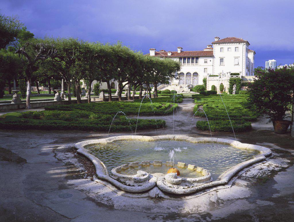 Vizcaya Museum and Gardens Miami Florida USA  : Stock Photo