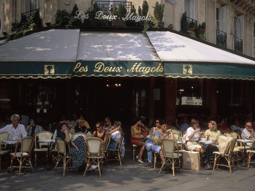 Stock Photo: 1119-W1992 Les Deux Magots