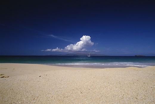 Stock Photo: 112-2189D Makena Beach State Park Maui Hawaii USA
