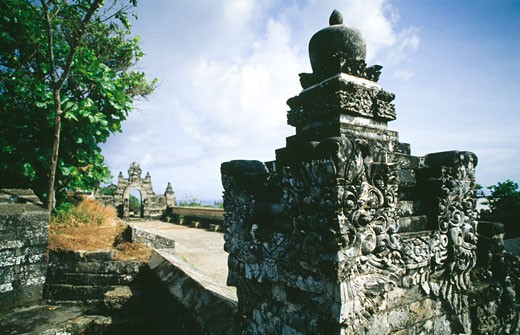 Ruins of a temple, Uluwatu Temple, Bali, Indonesia : Stock Photo