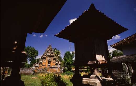 Stock Photo: 112-3412 Temple in a field, Besakih Temple, Besakih, Bali, Indonesia