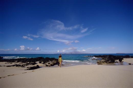Stock Photo: 112-5082 Makena State Park Maui Hawaii USA