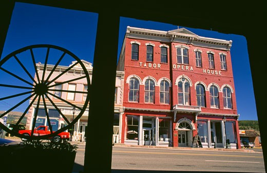 Stock Photo: 112-6821 Facade of Tabor Opera House,  USA,  Colorado,  Leadville
