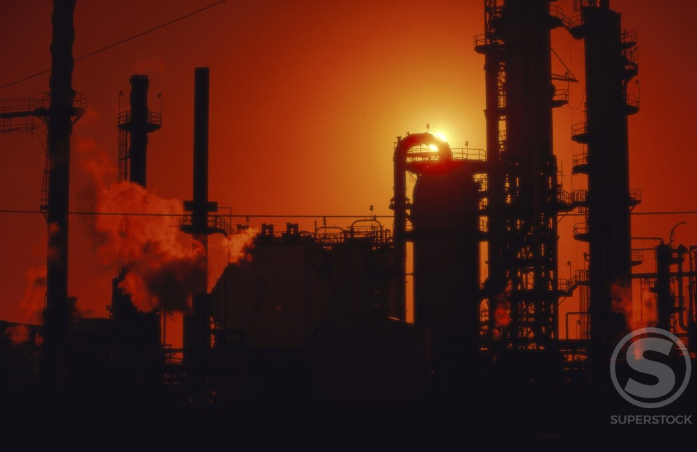 Oil Refinery : Stock Photo