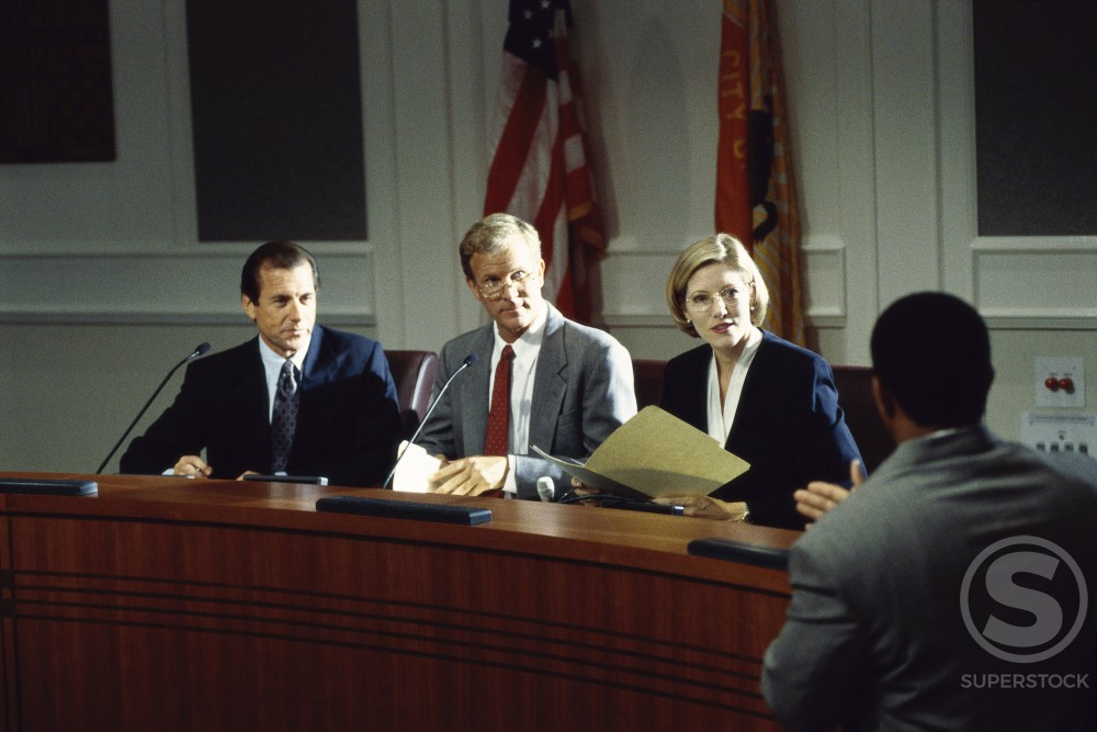 Stock Photo: 1128-632 Business executives in a board room