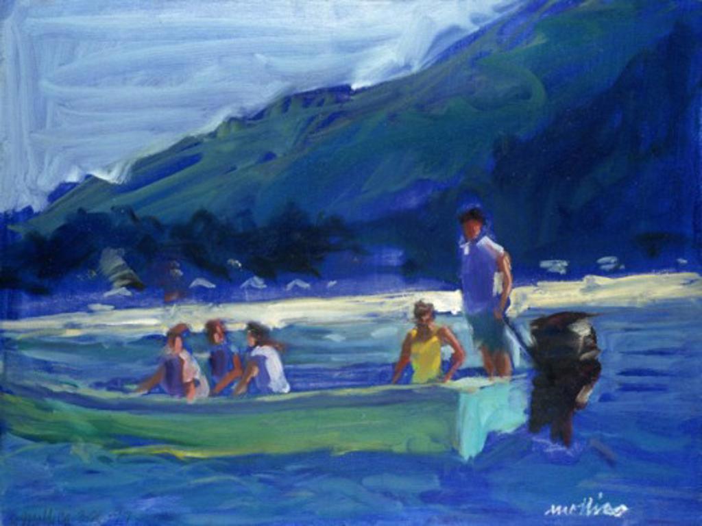 Stock Photo: 1133-26019 On The Blue Patti Mollica (20th C./American)