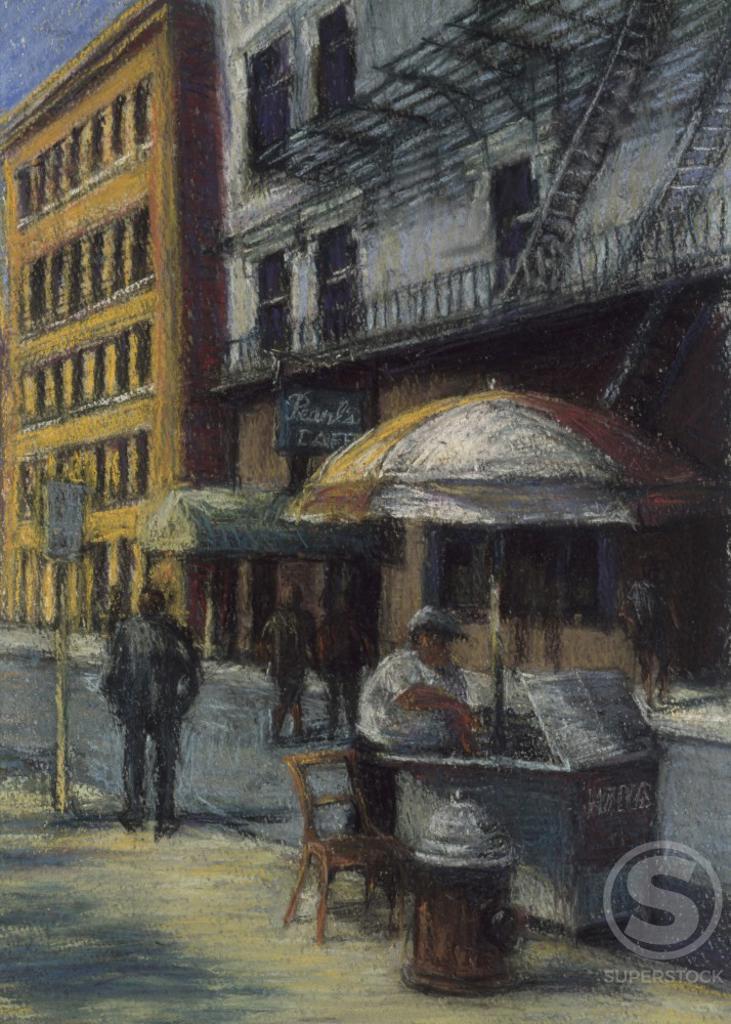 Christopher Street by Patti Mollica, 20th century : Stock Photo