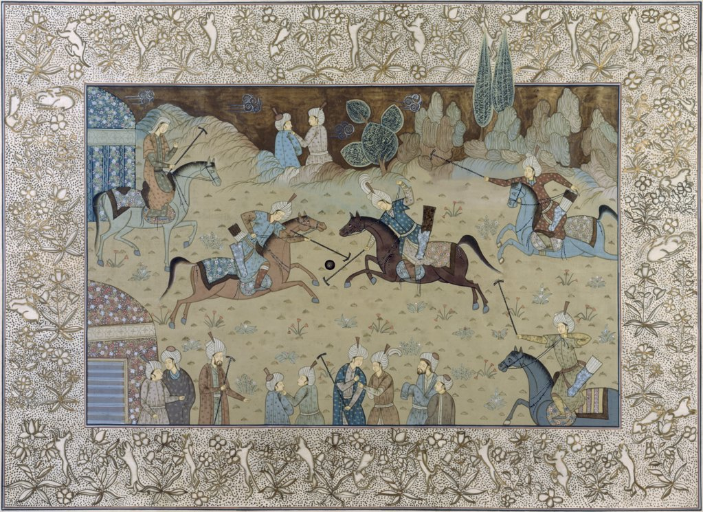 Stock Photo: 1134-616 Royal Indian Court Polo Scenes (Jaipur Rajasthan Desert, India) 