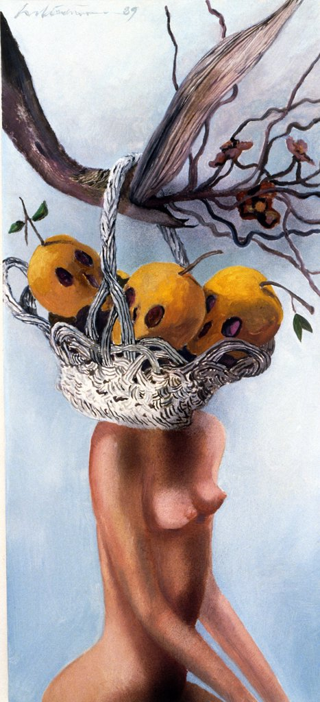 Eden's Fruit by Harold Stevenson, 1989, (born 1929), USA, Florida, West Palm Beach, Chisholm Gallery : Stock Photo