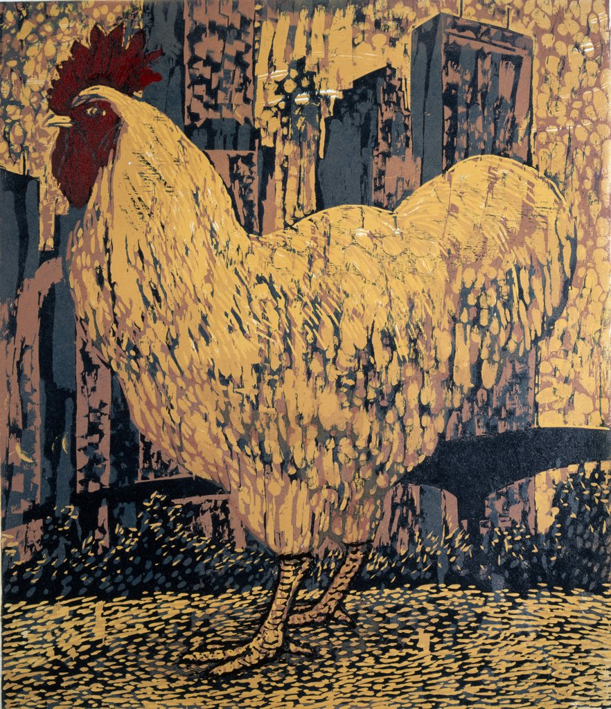 Stock Photo: 1154-41 Buff Rooster by Barry Wilson, (born 1929)