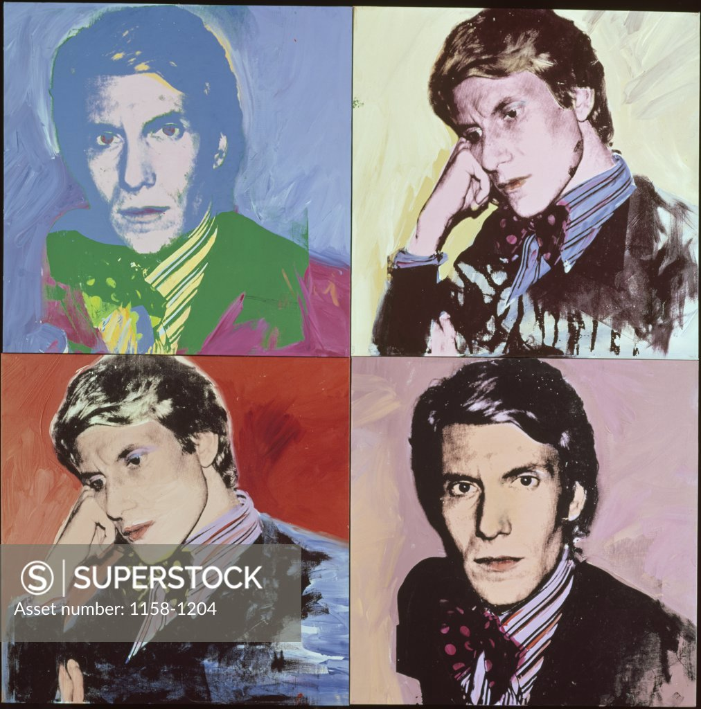Stock Photo: 1158-1204 Yves Saint-Laurent by Andy Warhol, 1928-1987