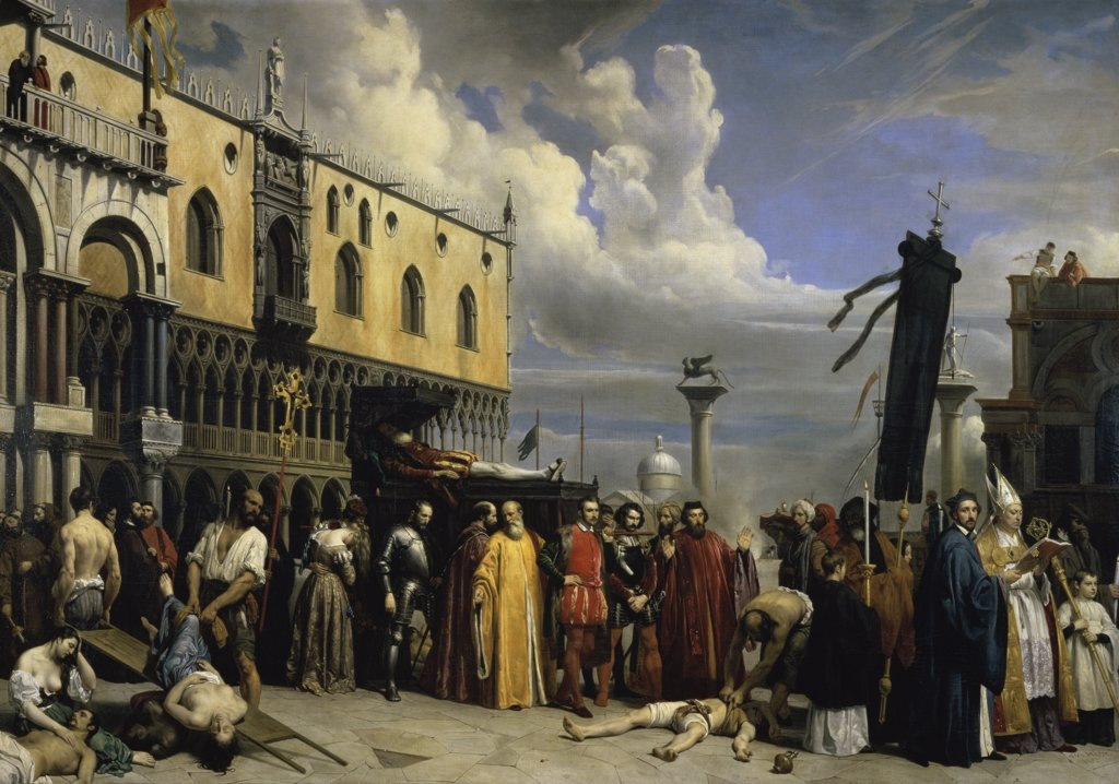 Stock Photo: 1158-1037 Funereal Honors Given to Titian 