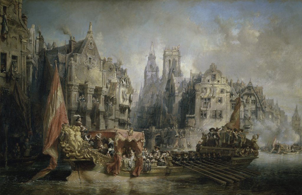 Stock Photo: 1158-1047 The Arrival of the Duke of Albe to Rotterdam 