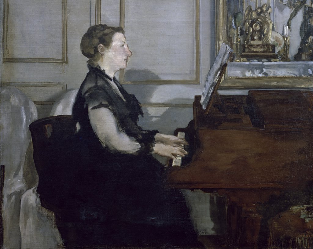 Stock Photo: 1158-1067 Madame Manet au Piano 