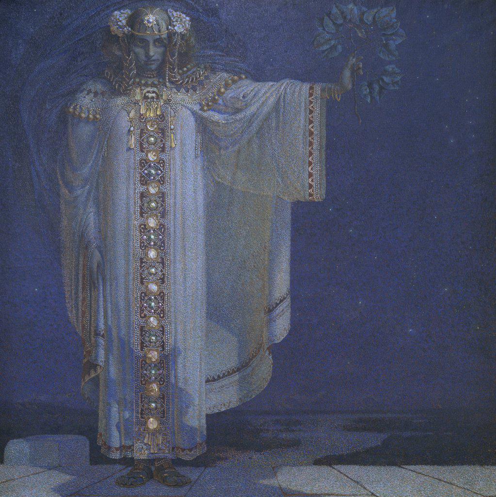 Stock Photo: 1158-1079 Prophetess Libusa  Vitezlav Karel Masek (1865-1927/Czech)  Musee d'Orsay, Paris