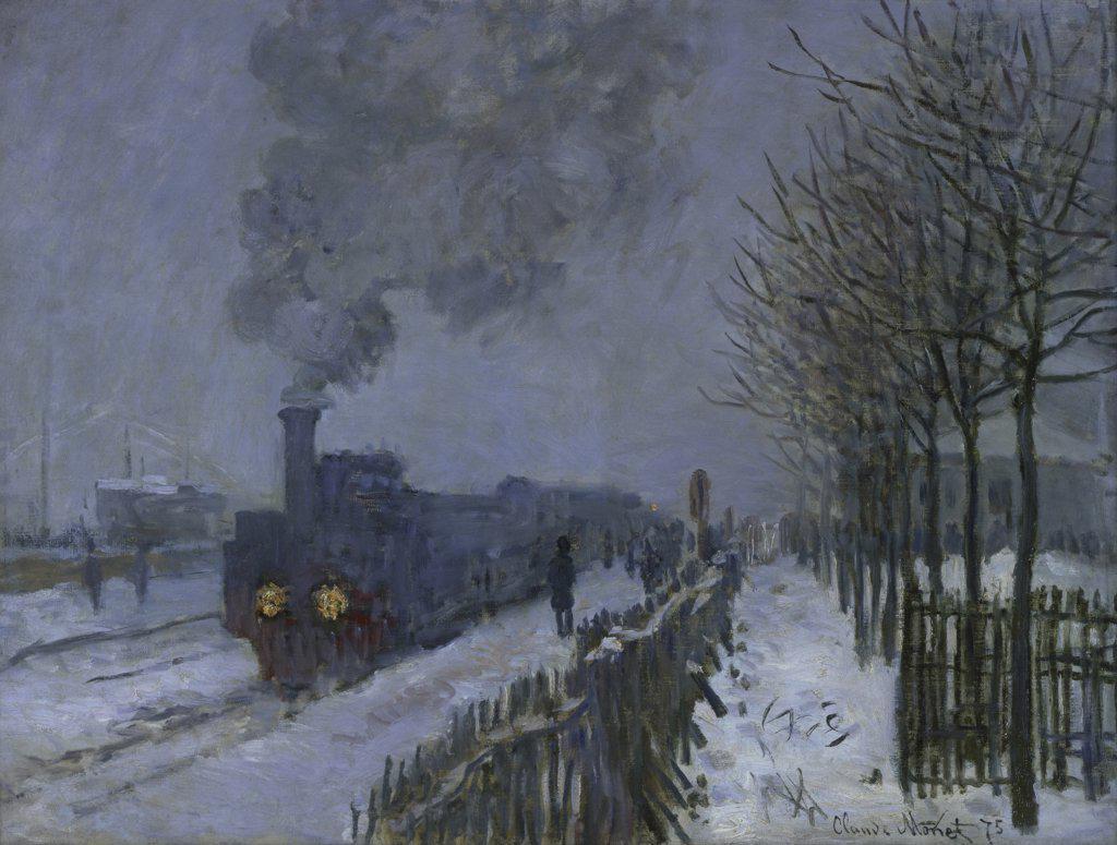 Stock Photo: 1158-1086 Le Train dans la Neige The Train in the Snow Claude Monet (1840-1926 French 59 X 79 cm) Musee Marmottan, Paris, France