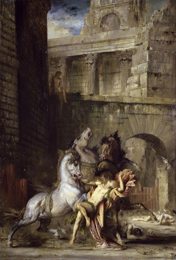 Les Chevaux de Diomede  1867  Gustave Moreau (1826-1898/French)  Musee des Beux-Arts, Rouen  : Stock Photo
