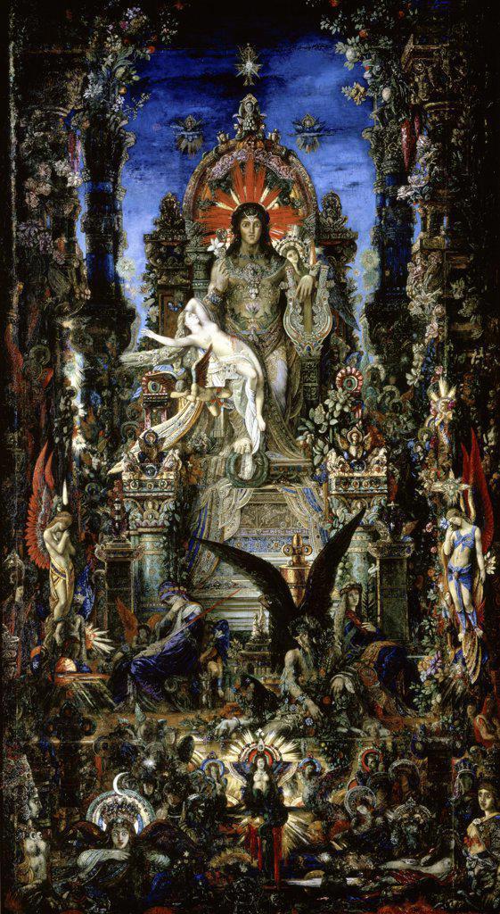 Stock Photo: 1158-1118 Jupiter et Semele Gustave Moreau (1826-1898/French) Musee Gustave Moreau, Paris
